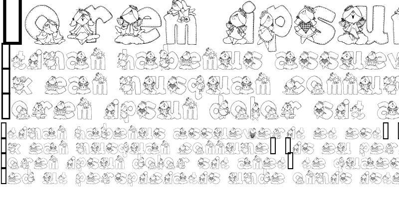 Sample of Angel Alphabet