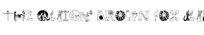 Preview of Animal Initials Regular