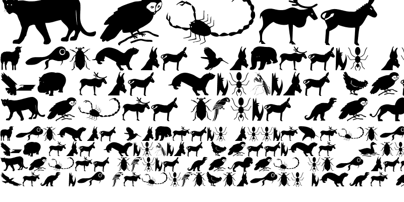 Sample of AnimaliSilhouetti