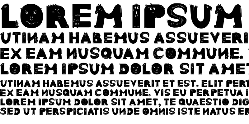 Sample of AnimalTypeFaces