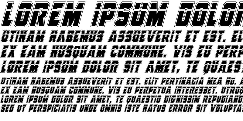Sample of Anitlles Laser Academy Italic Italic
