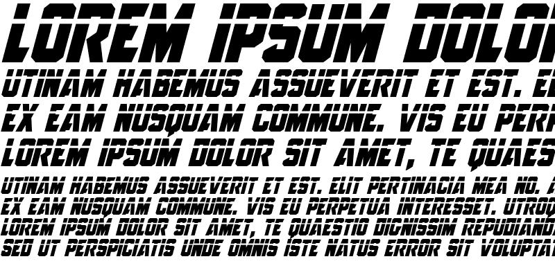 Sample of Anitlles Laser Italic
