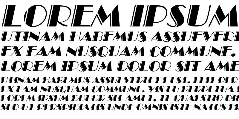 Sample of AnnaBeckerEngraved Italic