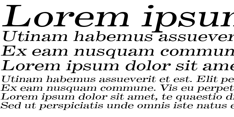 Sample of AnnualExtended Italic