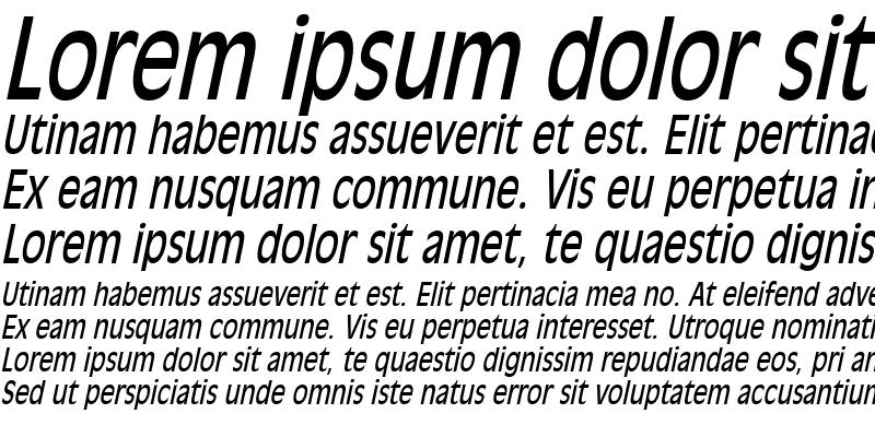 Sample of Antiqua 101 Thin Italic