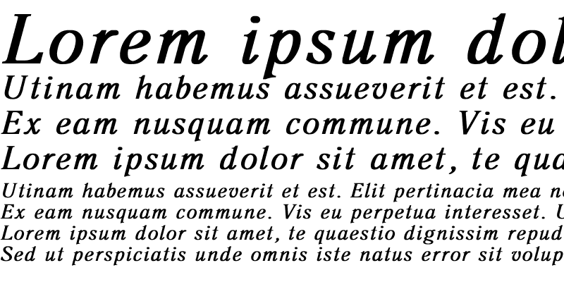 Sample of Antiqua Bold Italic