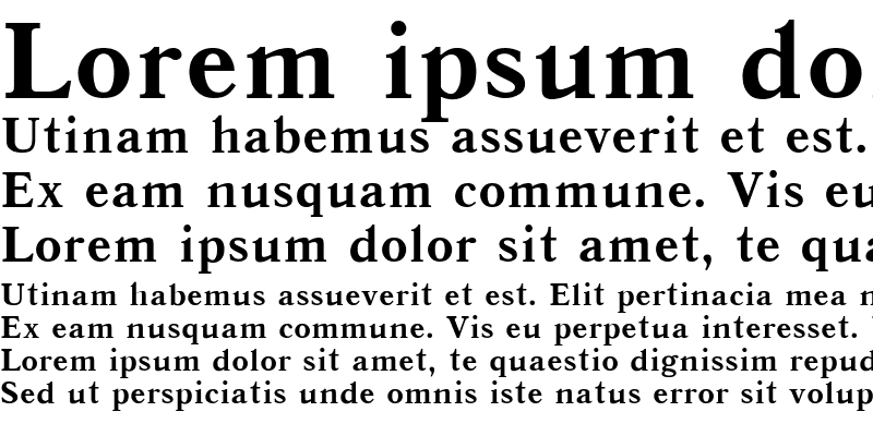 Sample of Antiqua Bold