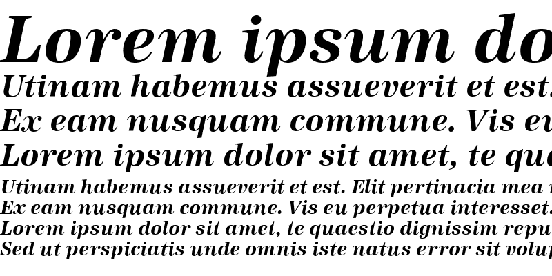 Sample of Antiqua BoldItalic
