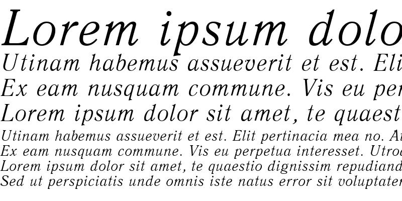 Sample of Antiqua Italic Cyrillic@