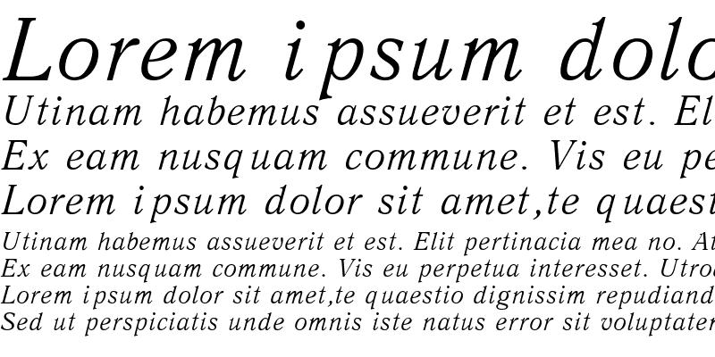 Sample of Antiqua Italic