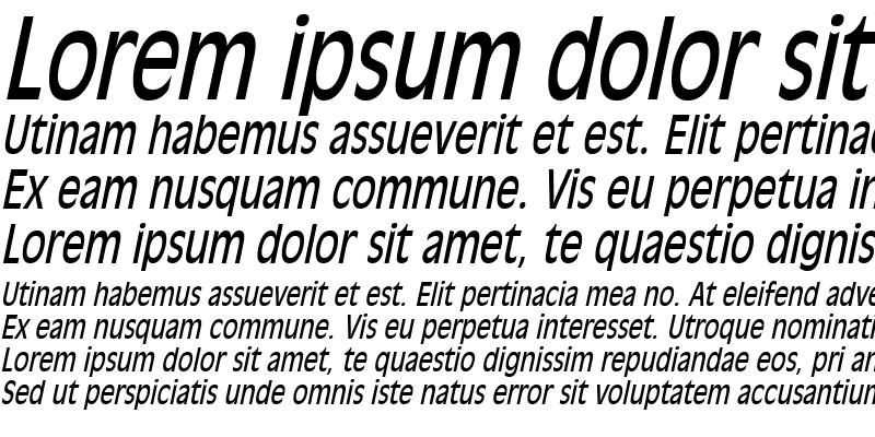 Sample of Antiqua101Thin Italic