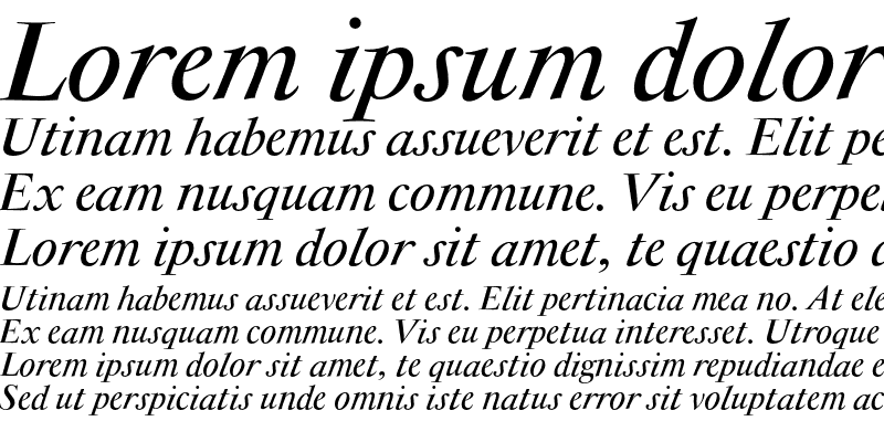 Sample of Antique Moderne CE Italic