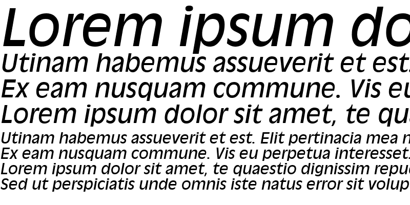 Sample of Antique Olive Roman Italic