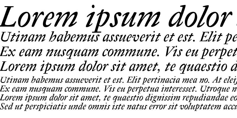 Sample of Antique Regent CE Italic