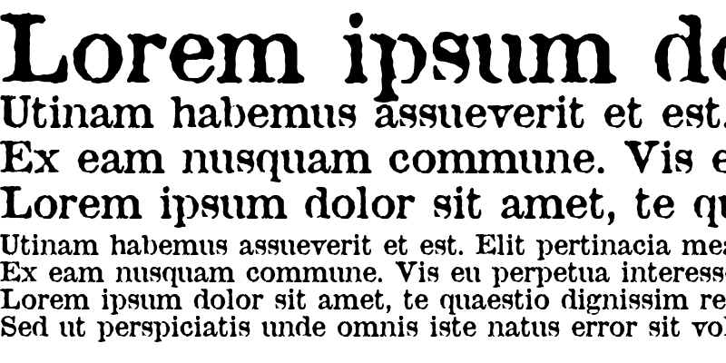 Sample of Antique Type Regular
