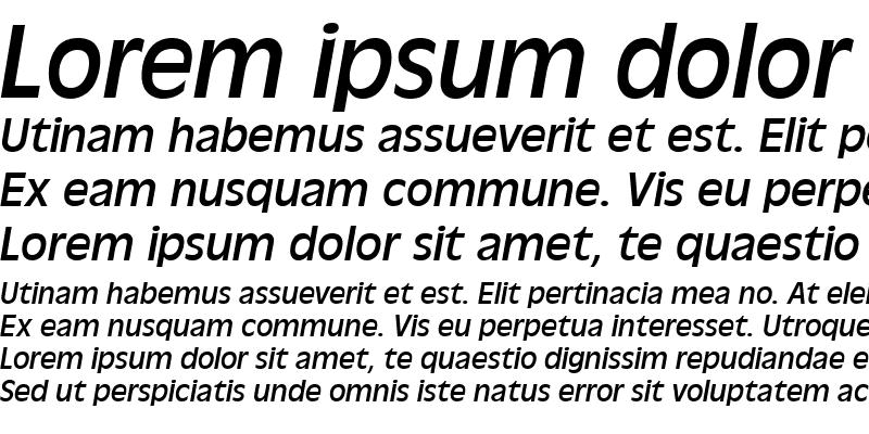 Sample of AntiqueOliTEE Italic