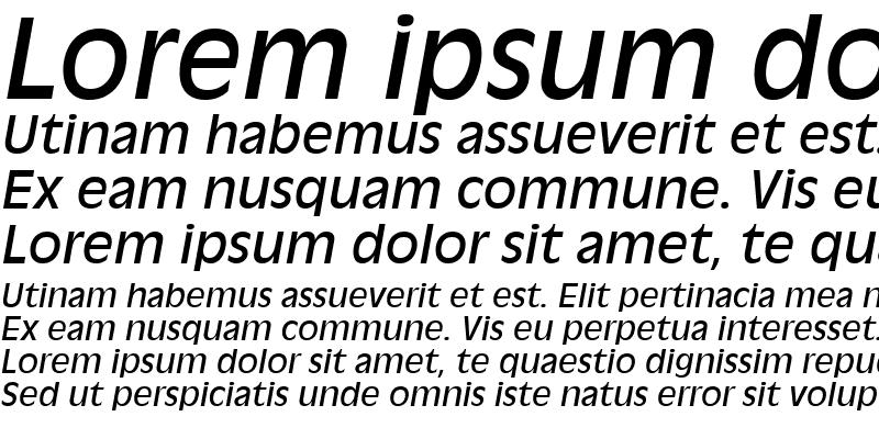 Sample of AntiqueOlive LT Roman Italic