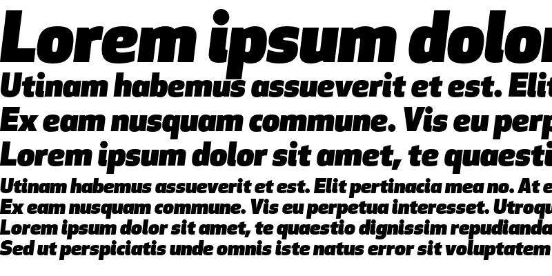 Sample of Apex New Ultra Italic