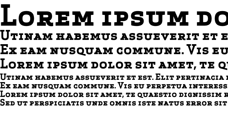 Sample of Apex Serif Bold Caps Regular