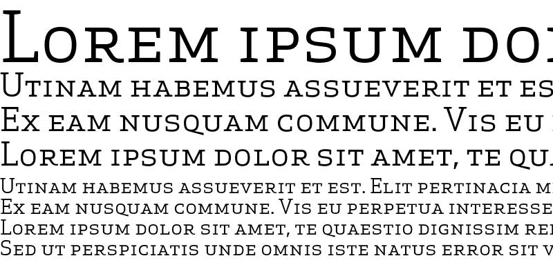 Sample of Apex Serif Book Caps Regular
