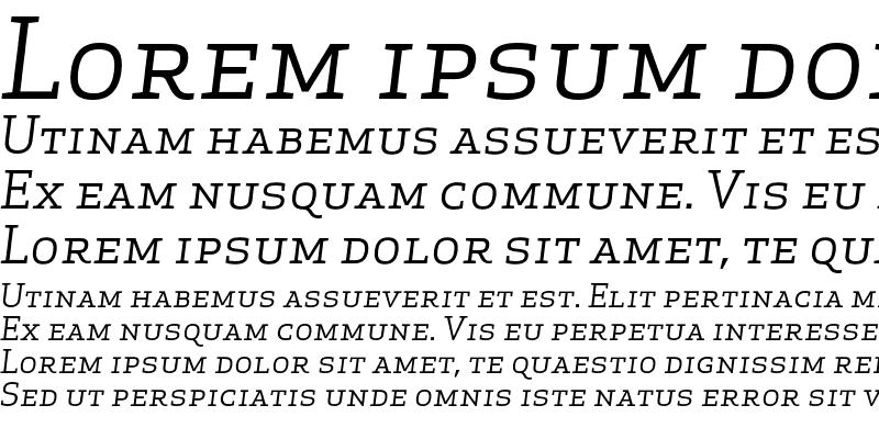 Sample of Apex Serif Book Italic Caps Regular