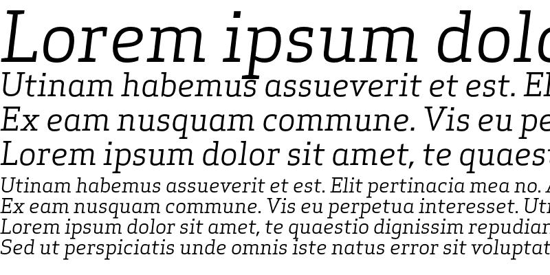 Sample of Apex Serif Book Italic Regular