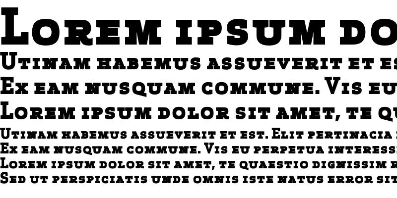 Sample of Apex Serif Extra Bold Caps Regular