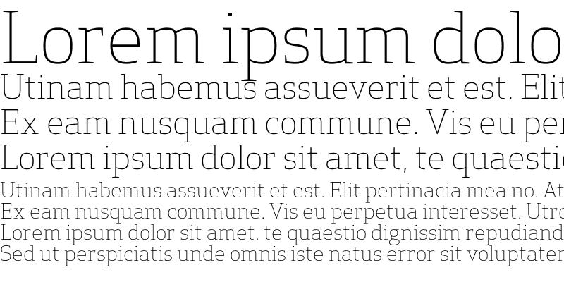 Sample of Apex Serif Light Regular