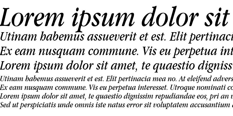 Sample of Apple Garamond BT Book Italic