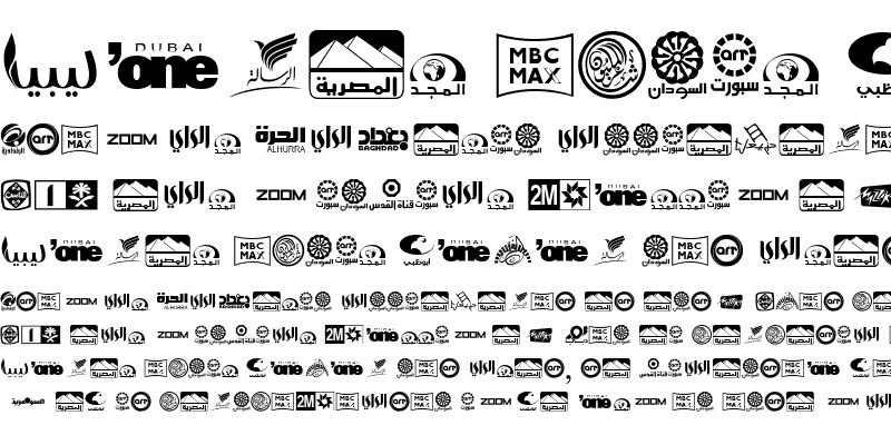 Sample of Arab TV logos