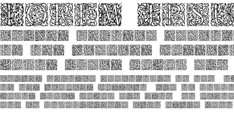 Sample of Arabesque Initialen