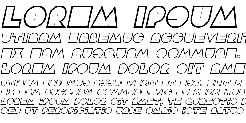 Sample of Aramis Italic