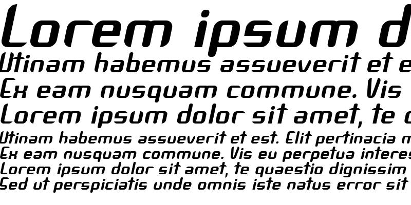 Sample of Arbeka Bold Italic