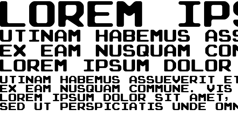 Sample of Arcade Rounded