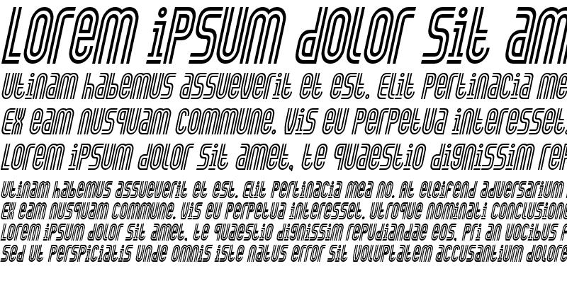 Sample of Arch-Condensed Italic