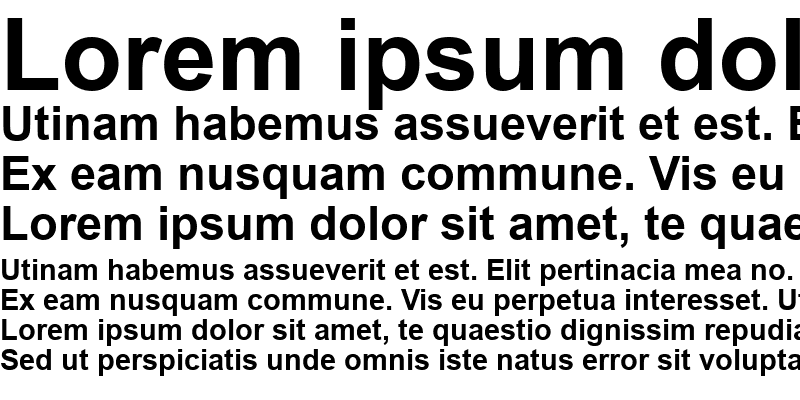 Sample of Arial CE Bold