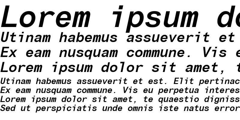 Sample of Arial Monospaced MT Italic