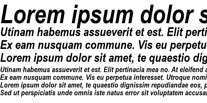 Sample of Arial Narrow Bold Italic