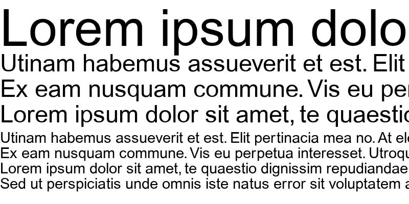 Sample of ArialMT Regular