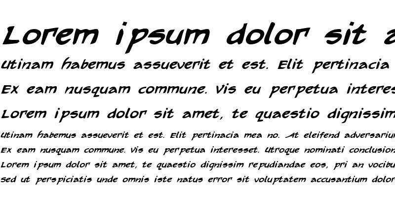 Sample of Arilon Bold Italic