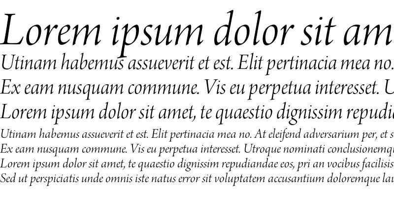 Sample of Arno Pro Light Italic Display