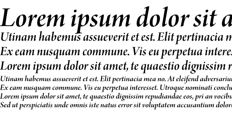 Sample of Arno Pro Semibold Italic Display