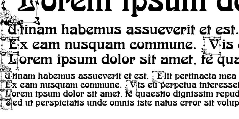 Sample of Arnold BocklinC Initials