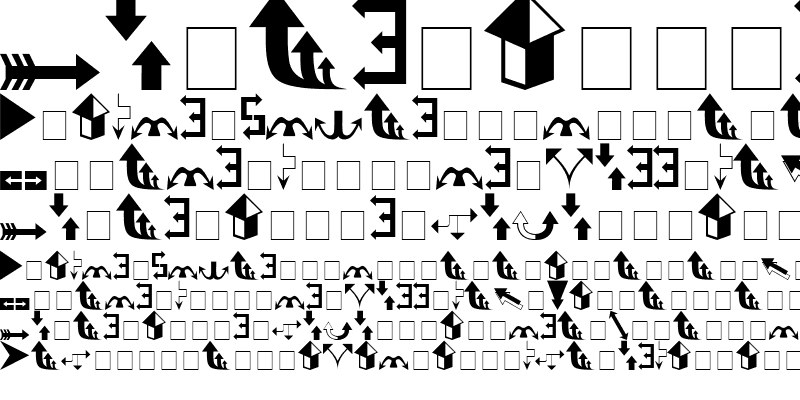 Sample of Arrows (filled) Regular