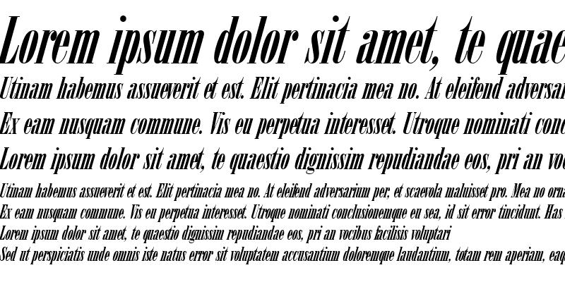 Sample of ArsisDReg Italic