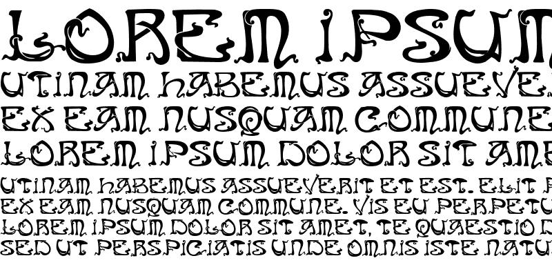 Sample of Art Nouveau Caps