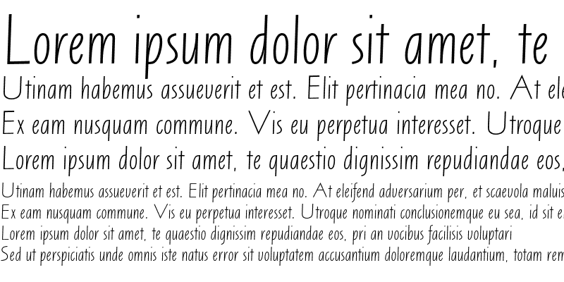Sample of Arta AT Light Italic