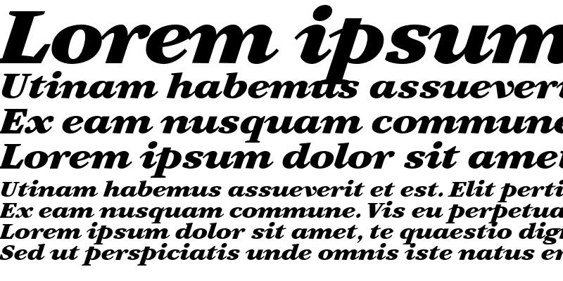 Sample of Artemius SN Black Italic