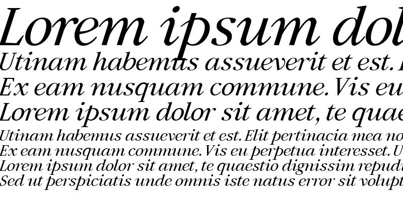 Sample of Artemius SN Italic