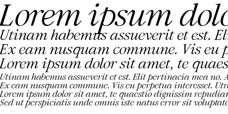 Sample of Artemius SN Light Italic